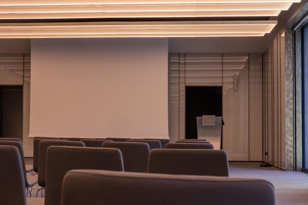 proiettore-epson-4k-sala-conferenza-soffitto-hotel-nascosto-stanza-telo-per-proiezione