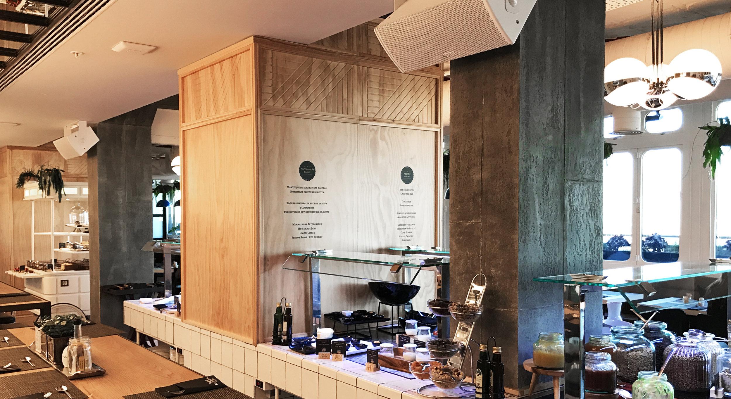 ecler installazione ristorante